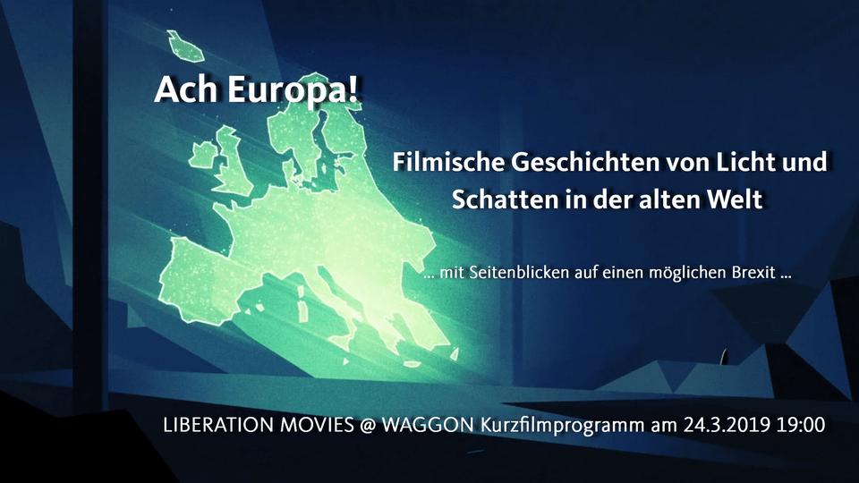 """Banner Kurzfilmprogramm """"Ach Europa!"""""""